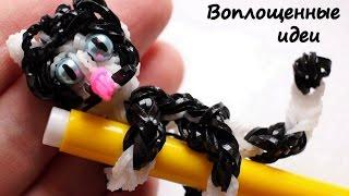 Котенок из резинок/Кот из резинок/Как сплести/Rainbow Loom kitten/bracelet