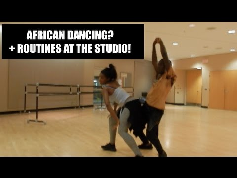 AFRICAN DANCING + ROUTINES AT THE STUDIO!