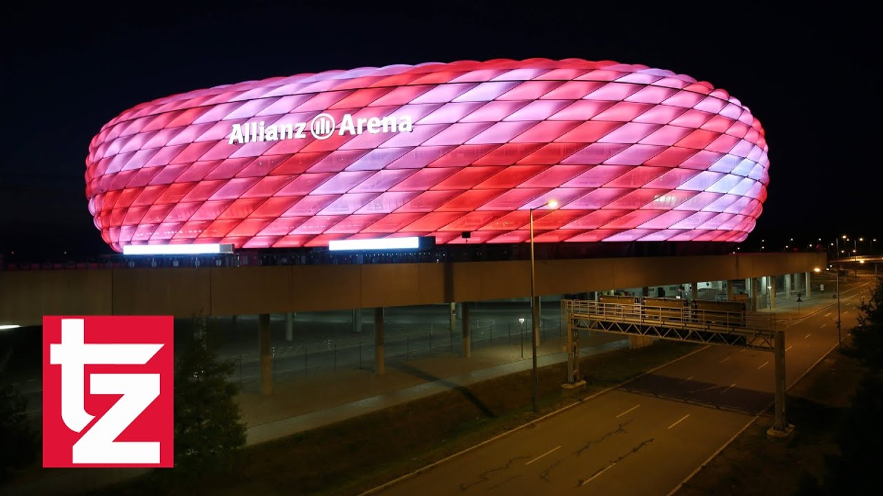 16 millionen farben arena licht spektakel allianz arena erstrahlt in neuen farben fc. Black Bedroom Furniture Sets. Home Design Ideas