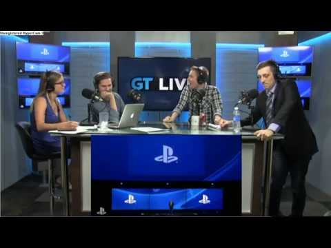 Gaming commentators experience severe human joy at game unveil.