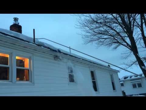 Snow Slide Roof Rake Youtube