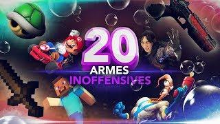 20 armes inoffensives du jeux vidéo
