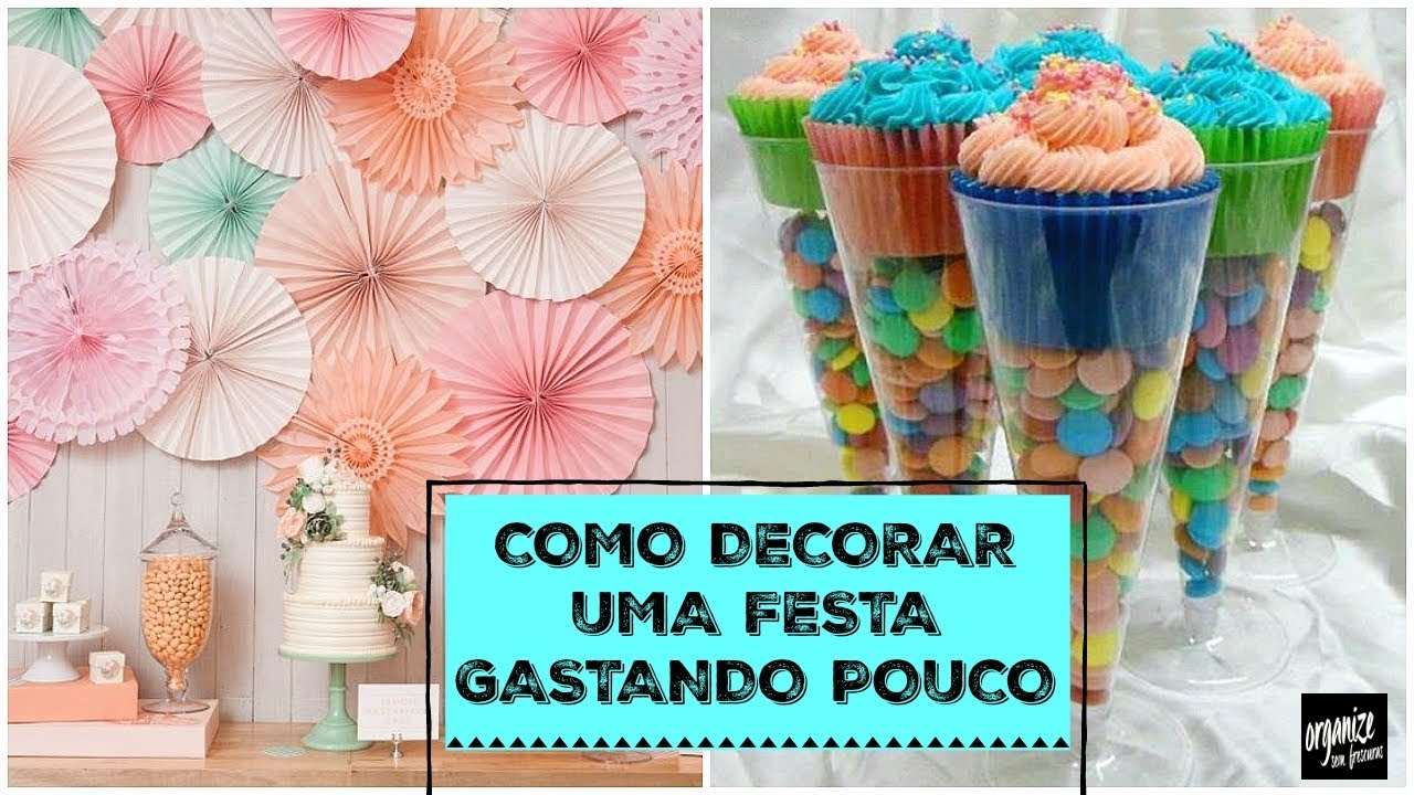 COMO DECORAR UMA FESTA DE ANIVERSÁRIO GASTANDO POUCO Organize sem Frescuras! YouTube -> Decoração De Aniversario Infantil Com Tnt