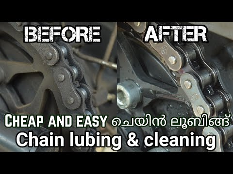 Chain lubing and cleaning in easiest and cheapest way | Chain lubing turorial in malayalam