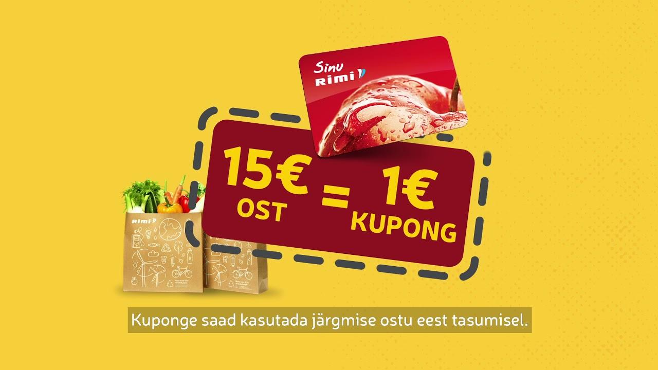 🤩Iga 15€ ost = 1€ kupong