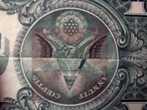 Satanic Symbol Of Baphomet On Us One Dollar Bill Youtube