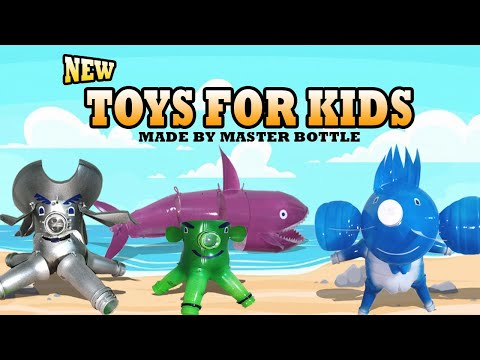 NEW TOYS FOR KIDS MADE UP OF RECYCLED BOTTLES | CARTOON FLOWER POT | MASTER BOTTLE