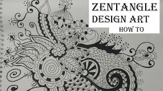 zentangle doodle easy draw beginners complex tutorial drawing step