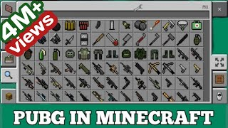 Minecraft Pe pubg guns mod download
