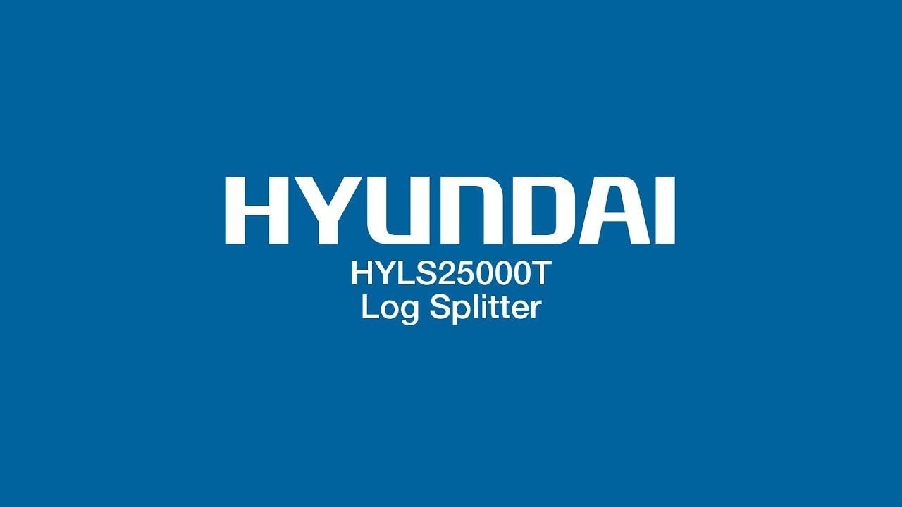Hyundai 4-Stroke Petrol Horizontal Log Splitter 7hp 25 Tonne Splitting Pressure Towable HYLS25000T