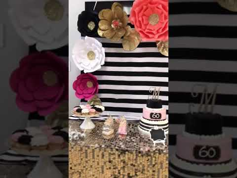 Kate Spade Candy Cake Table Backdrop Youtube