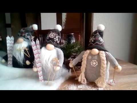 Weihnachtswinter Deko Wichtel Aus Socken Basteln