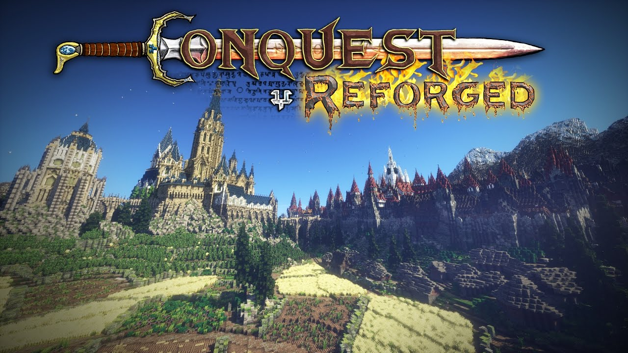 Minecraft Cinematic Conquest Reforged Mod Trailer YouTube
