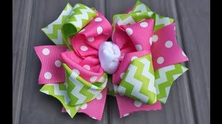Step 4 - How to Make Spikes and Assembling a 6 inch Boutique Bow with Artemis in Love (Lesson 4)