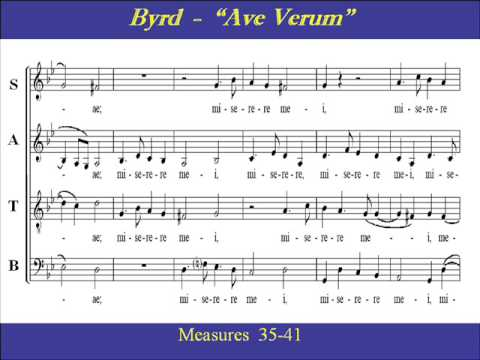 william byrd ave verum corpus