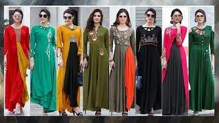 Designer Long Kurti Designs|Latest Party Wear Kurti Designs|Latest Designer Kurti 2018|Trendy India