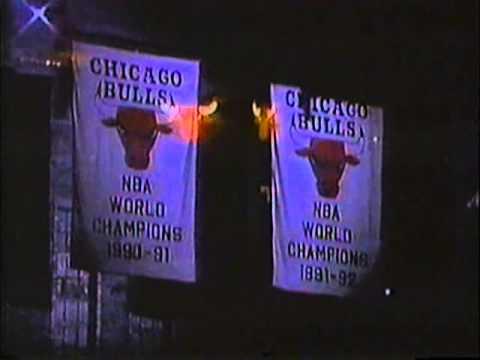 Chicago Bulls Introduction 1993 Regular Season Game vs Charlotte Hornets.