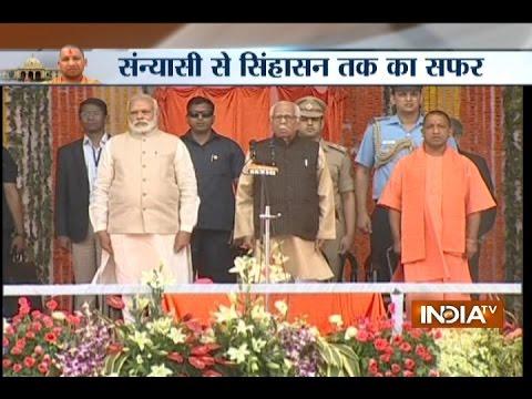 49 ministers including 2 deputy CMs take oath with Yogi Adityanath in Uttar Pradesh