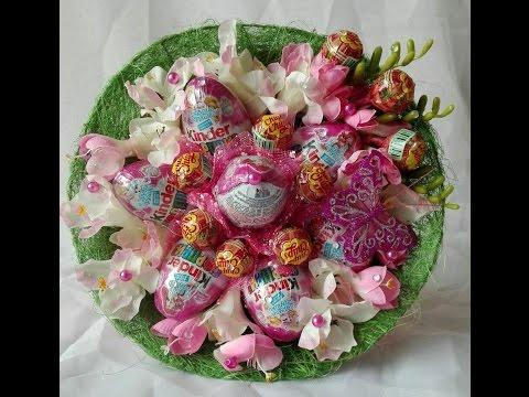 Основа для конфетного букета своими руками\ Master class candy bouquet