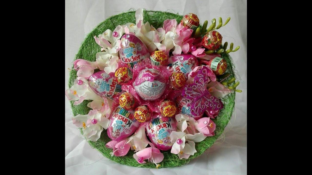 Изготовление своими руками конфетных букетов