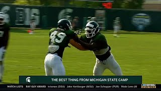 Best Thing at Practice | Michigan State Spartans | Big Ten Football