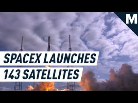 SpaceX Launched a Record-Setting 143 Satellites Into Orbit | Mashable - Mashable