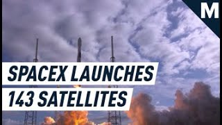 SpaceX Launched a Record-Setting 143 Satellites Into Orbit | Mashable