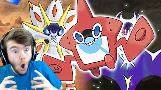 POKEMON SUN & MOON LEGENDARY POKEMON INFO + ROTOM POKEDEX?! - GAMEBOYLUKE REACTION!