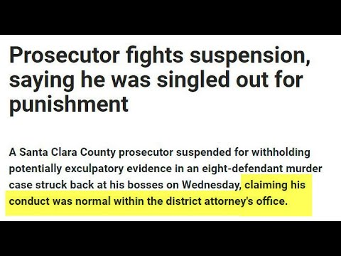 Prosecutor Misconduct: District Attorney Jeff Rosen Ignores Crimes by Lawyers in Santa Clara County