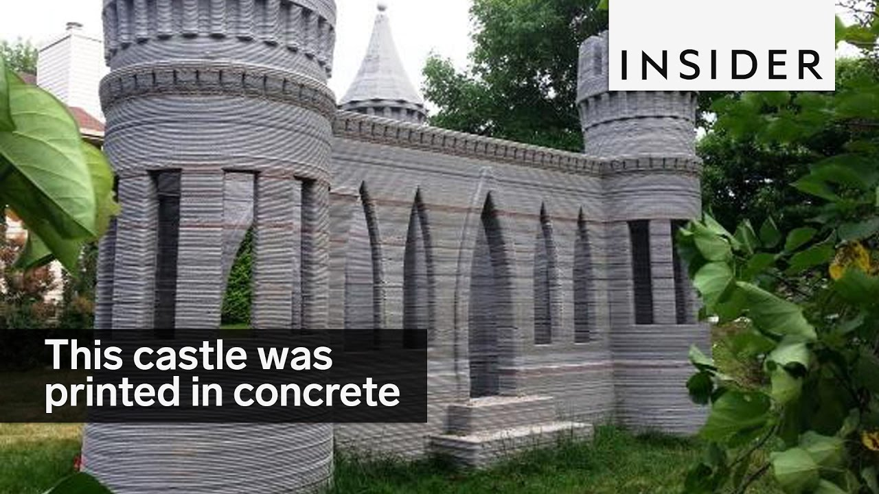 this castle was printed in concrete - youtube