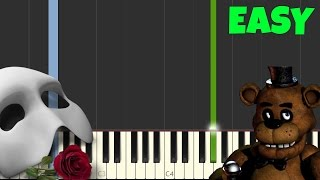 The Phantom Of The Opera [Easy Piano Tutorial] (Synthesia/Sheet Music)