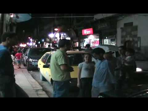 Damascus Christian Quarter, main street by evening