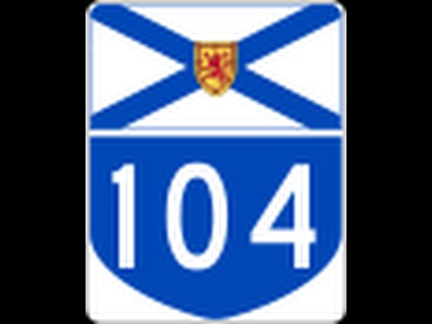 HWY 104 not all facts maybe right Twining and Barriers. NOVA.SCOTIA