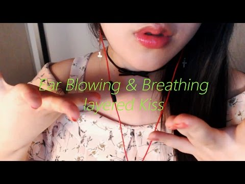 ASMR Gentle Ear Blowing And Layered Lip Sounds 1Hour