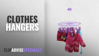 Top 10 Clothes Hangers [2018]: TNC MADE IN INDIA Multi hook, Multi clip hanger, cloth dryer,