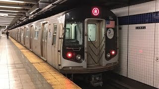 NYC Subway HD 60fps RARE: Women's March Extra R160 A & D Trains @ Canal, WTC, & Grand (1/21/17)