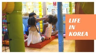 Korean kids reaction to my Blasian kids at the playground | Black Korean Family Vlog ep. 171