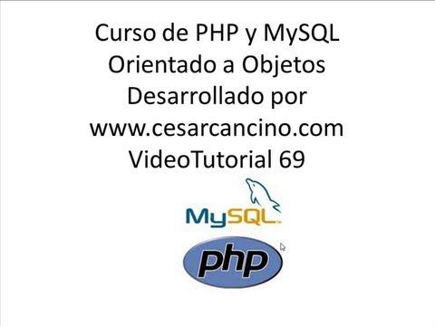 VideoTutorial 69 del Curso de PHP POO