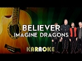 Imagines Dragons Believer Acoustic Guitar Karaoke Instrumental Lyrics mp3