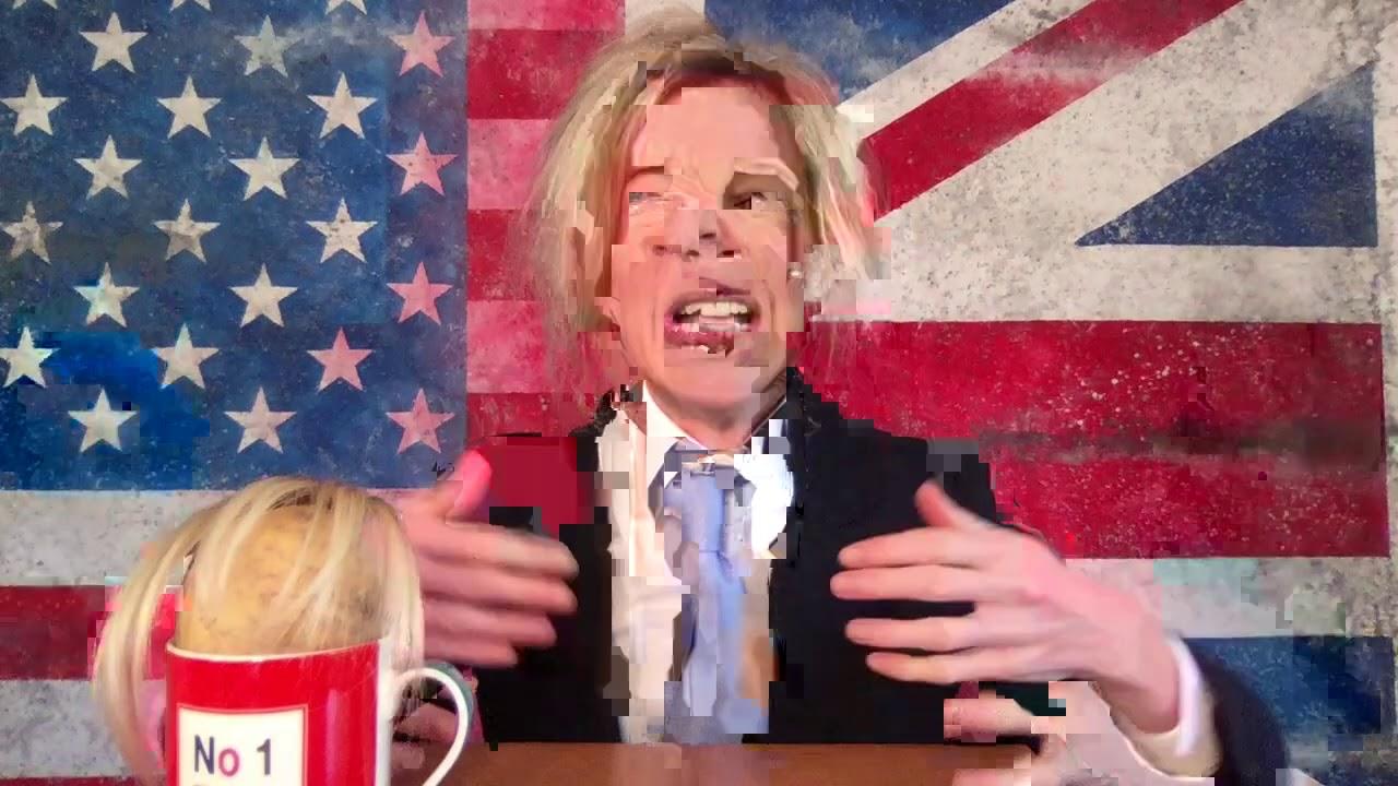 Katie Hopkins as Boris Johnson - and his bastard roadmap