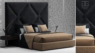"""№109. Моделирование кровати """"Bed of my design"""" в 3d max и marvelous designer"""