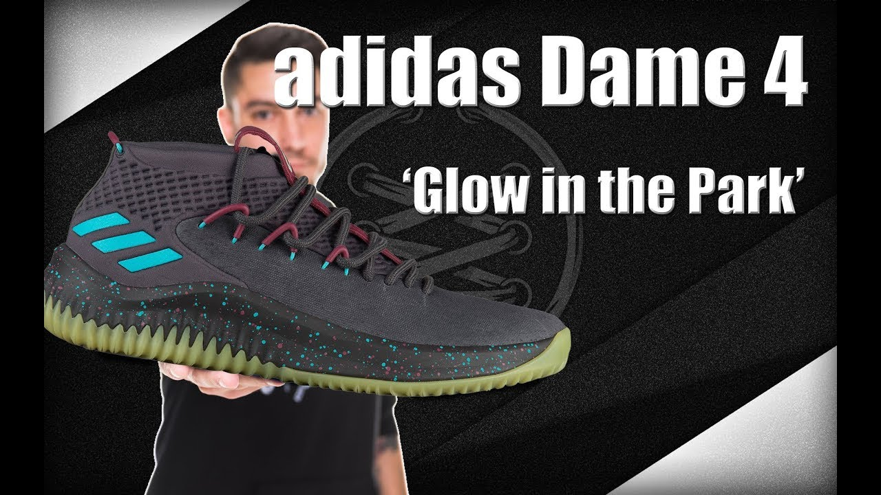 buy online d0121 772b2 Adidas Dame 4 Glow In The Park
