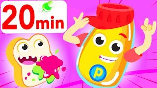 Rap battle with Peanut Butter and Jelly, Apples and Bananas, ♫ Children songs by Little Angel