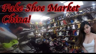 Fake Shoes Market Guangzhou China, Nike, Adidas, Puma, and more generic brands footwear. Not hype!