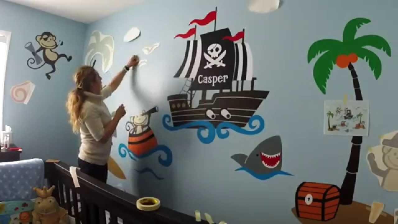 Custom Nursery Wall Decor Monkey Pirates At Sea Baby