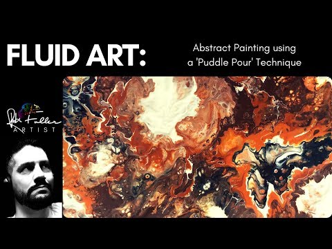 Puddle Pour & Dirty Pour using Liquitex Pouring Medium to create an Abstract Painting