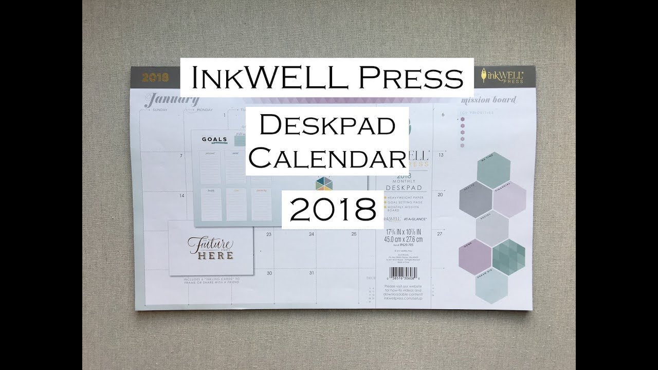 Inkwell Press 2018 Desk Pad Wall Calendar Office Depot Youtube
