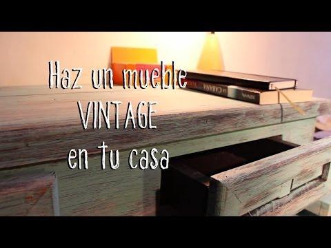Como hacer un mueble vintage en tu casa guia facil paso - Como decapar un mueble oscuro ...