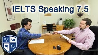 IELTS Speaking Score 7.5 with Arabic Speaker subtitled
