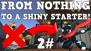 FROM NOTHING TO A SHINY STARTER!!! [#2] | Roblox Pokemon Brick Bronze